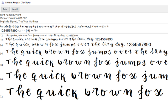 how to create your own font (1)
