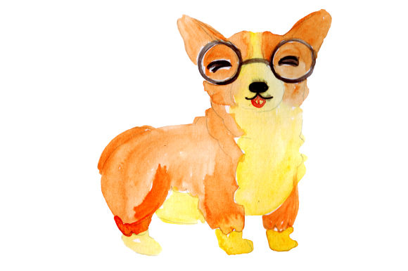 Corgi with Glasses Dogs Craft Cut File By Creative Fabrica Crafts