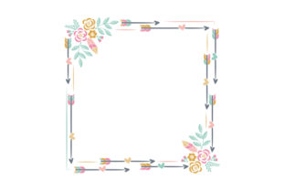 Boho Style Frame Designs & Drawings Craft Cut File By Creative Fabrica Crafts 1