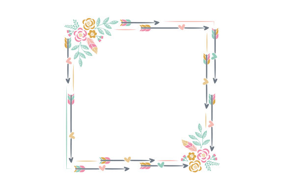 Boho Style Frame Designs & Drawings Craft Cut File By Creative Fabrica Crafts