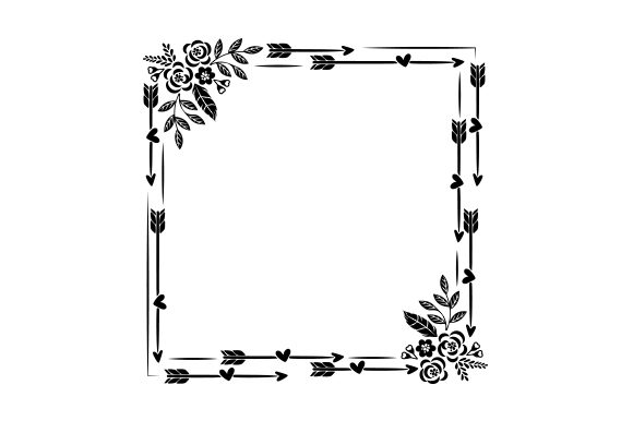 Boho Style Frame Designs & Drawings Craft Cut File By Creative Fabrica Crafts - Image 2