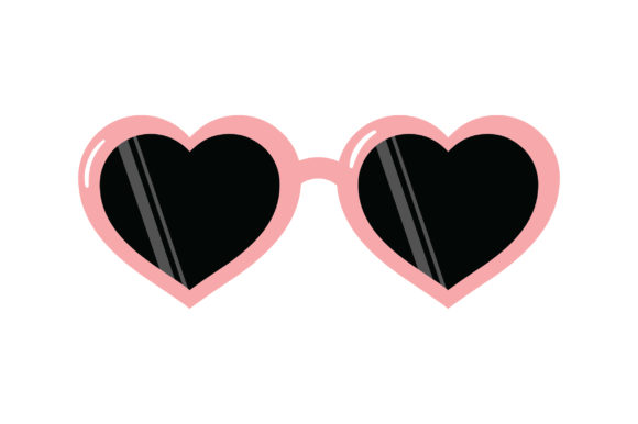 Heart-shaped Sunglasses Belleza y Moda Archivo de Corte Craft Por Creative Fabrica Crafts