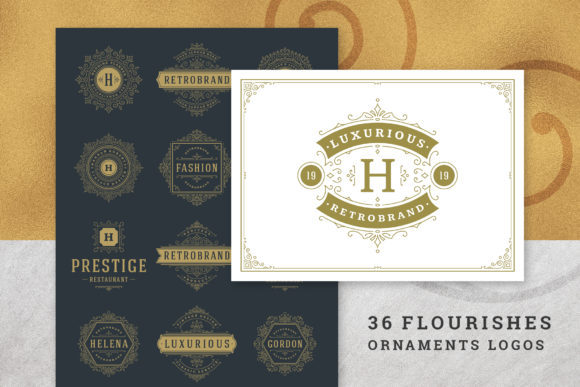 36 Luxury Ornament Logos Graphic Logos By vasyako1984