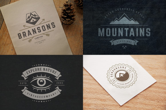 50 Outdoor Logos and Badges Graphic Logos By vasyako1984 - Image 14