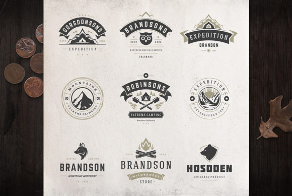 50 Outdoor Logos and Badges Graphic Logos By vasyako1984 - Image 2