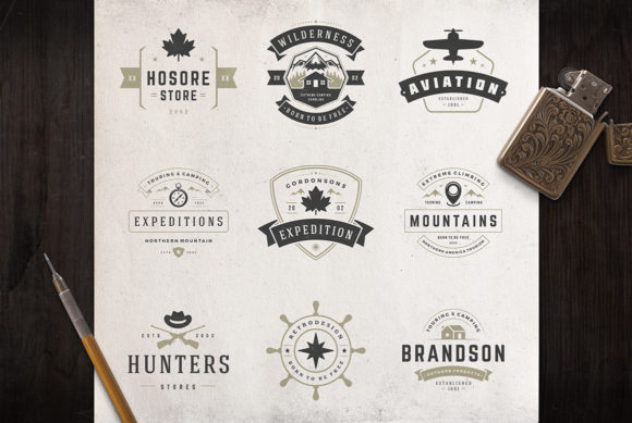 50 Outdoor Logos and Badges Graphic Logos By vasyako1984 - Image 3