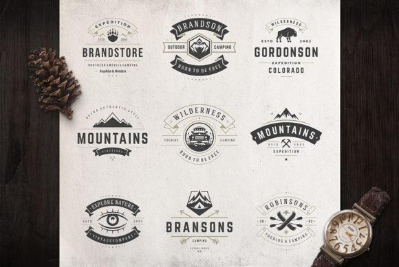 50 Outdoor Logos and Badges Graphic Logos By vasyako1984 - Image 4