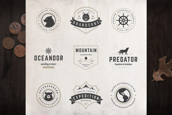 50 Outdoor Logos and Badges Graphic Logos By vasyako1984 - Image 5