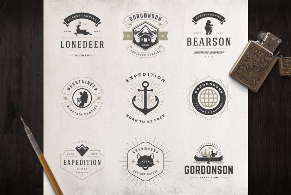 50 Outdoor Logos and Badges Graphic Logos By vasyako1984 - Image 6