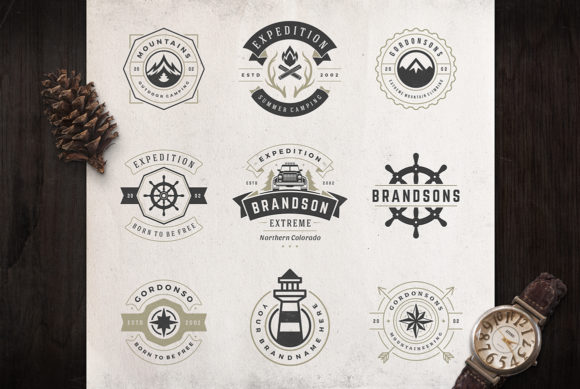 50 Outdoor Logos and Badges Graphic Logos By vasyako1984 - Image 7