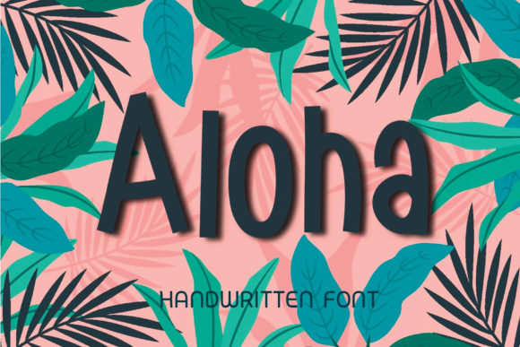 Print on Demand: Aloha Script & Handwritten Font By Ality