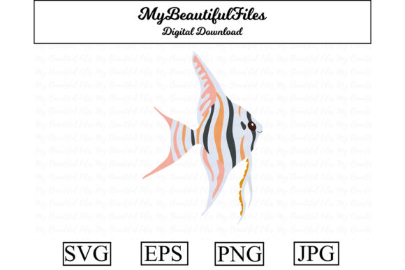 Print on Demand: Angelfish Clipart Design Graphic Illustrations By MyBeautifulFiles