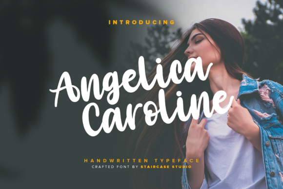 Print on Demand: Angelica Caroline Script & Handwritten Font By staircasestudio20