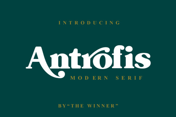 Print on Demand: Antrofis Display Font By TheWinner