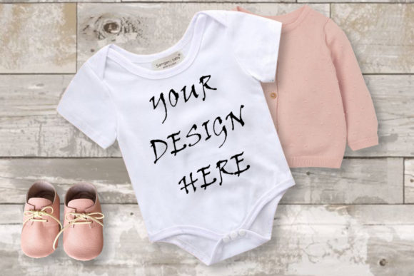 Baby Girl White Bodysuits Mockups Graphic Product Mockups By ArtStudio