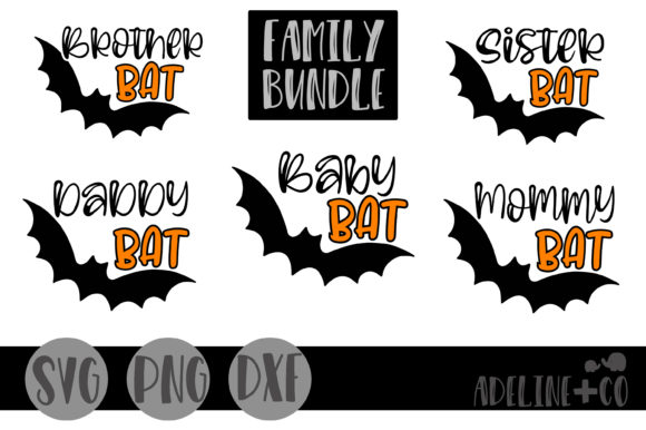 Bat Family Bundle Graphic Crafts By adelinenco