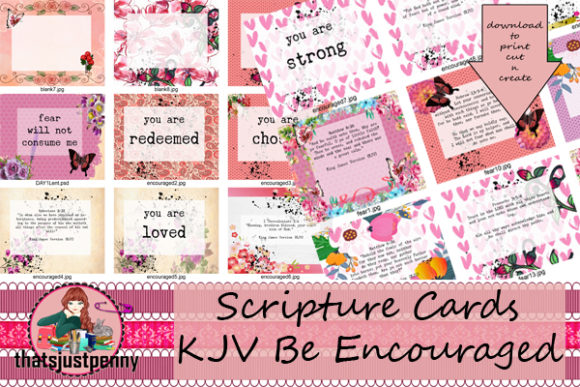 Be Encouraged ScriptureJournal Cards   Graphic Crafts By thatsjustpenny