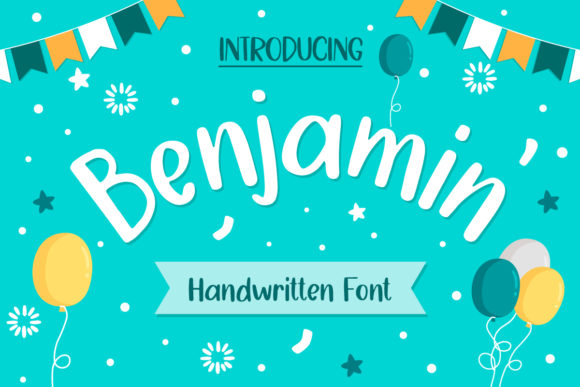 Print on Demand: Benjamin Script & Handwritten Font By wanchana365