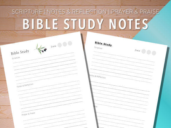 Print on Demand: Bible Study | Scripture | Notes | Prayer Graphic KDP Interiors By AscendPrints