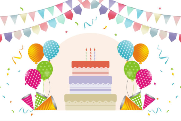 Birthday Delicious Cake Graphic Illustrations By edywiyonopp