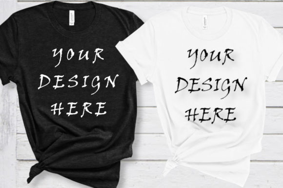 Black and White Mockups, T-shirts Mockup Graphic Product Mockups By ArtStudio