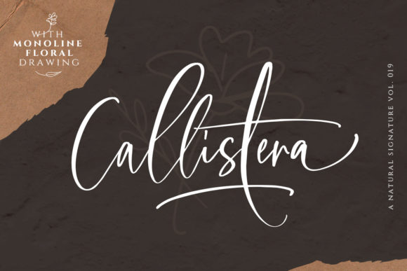 Print on Demand: Callistera Script & Handwritten Font By saridezra
