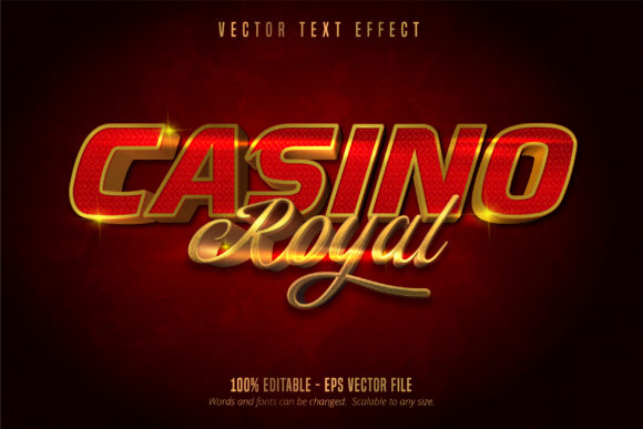 Print on Demand: Casino Royal Style Editable Text Effect Graphic Graphic Templates By Mustafa Bekşen