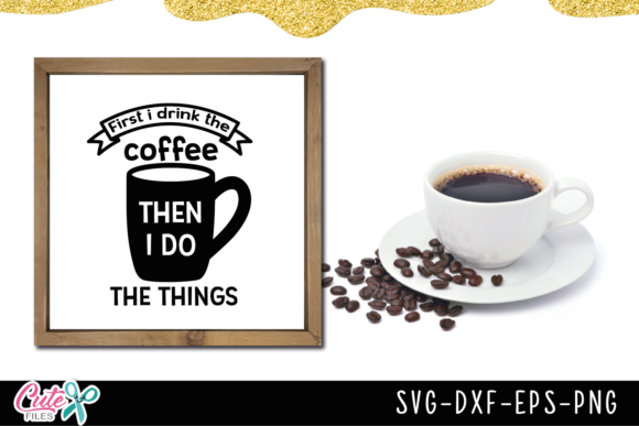 Coffee Sayings Bundle Graphic Illustrations By Cute files - Image 7