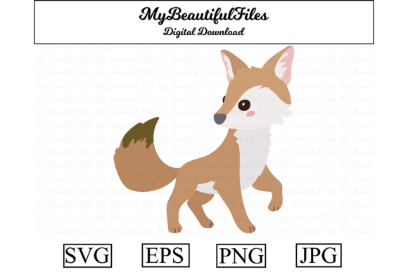 Print on Demand: Coyote Clipart Design Graphic Illustrations By MyBeautifulFiles