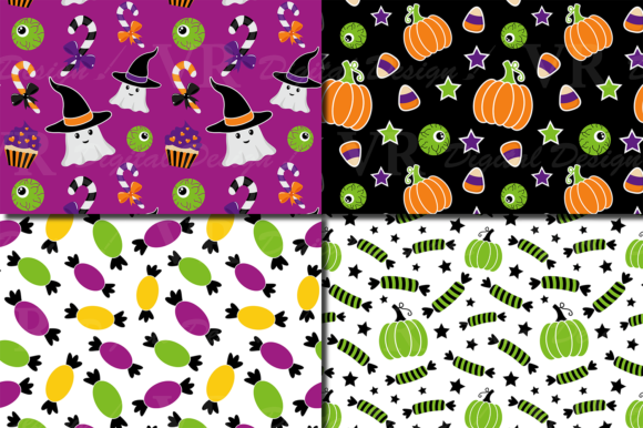 Cute Halloween Seamless Patterns / Paper Graphic Patterns By VR Digital Design - Image 2