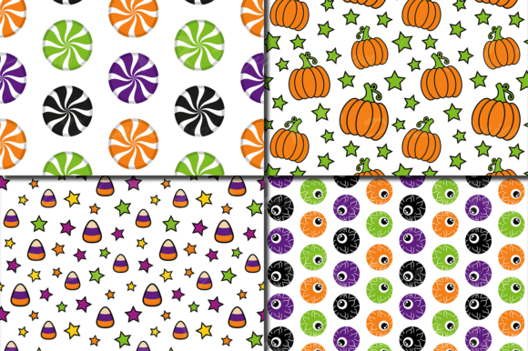 Cute Halloween Seamless Patterns / Paper Graphic Patterns By VR Digital Design - Image 3