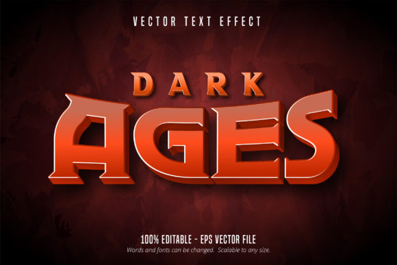 Print on Demand: Dark Ages Text, Game Style Text Effect Graphic Graphic Templates By Mustafa Bekşen