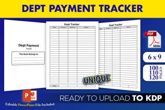 Print on Demand: Dept Payment Tracker | KDP Interior Graphic KDP Interiors By Beast Designer