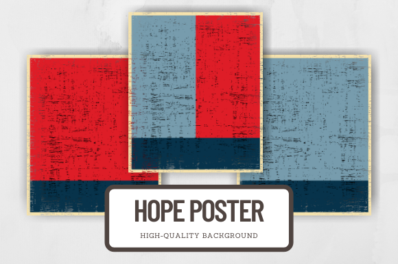 Print on Demand: Distressed Hope Poster Background Elemen Graphic Backgrounds By atlasart