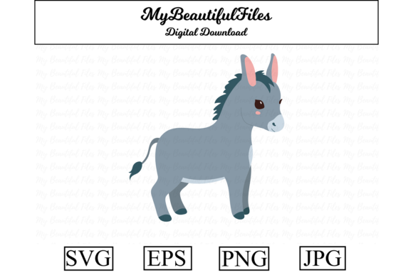 Print on Demand: Donkey Clipart Design Graphic Illustrations By MyBeautifulFiles