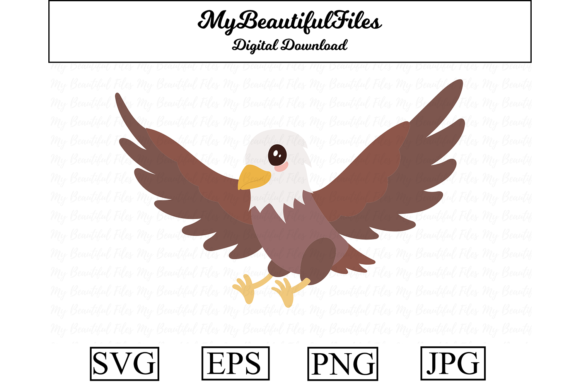 Print on Demand: Eagle Clipart Design Graphic Illustrations By MyBeautifulFiles