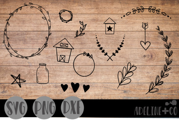 Farmhouse Doodles  Graphic Crafts By adelinenco