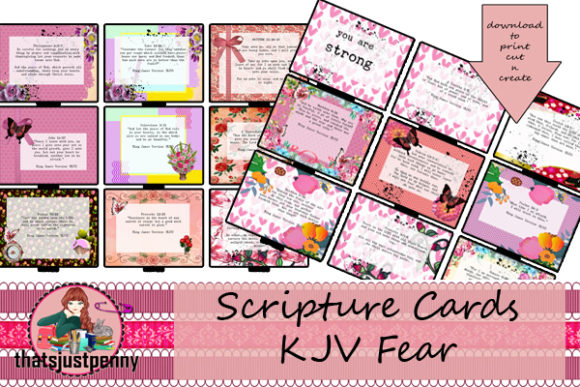Fear Scripture Journal Cards   Graphic Crafts By thatsjustpenny