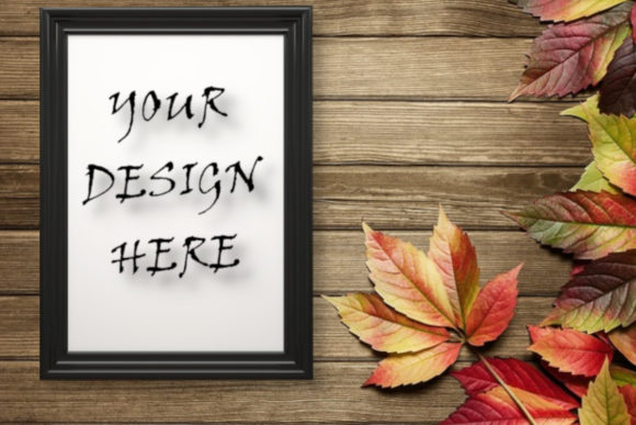 Frame Mockup , Autumn Background Grafik Produktmodelle von ArtStudio