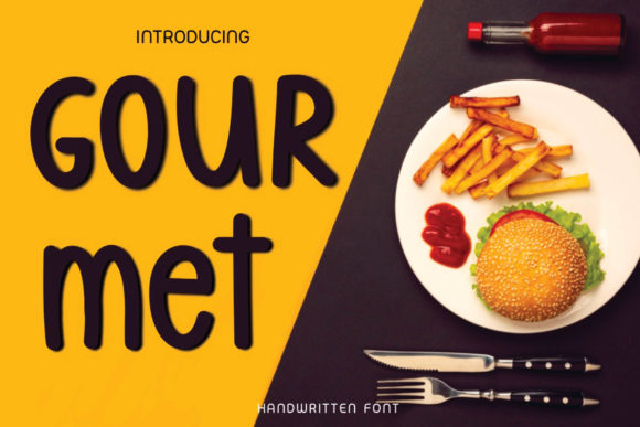 Print on Demand: Gourmet Display Font By Ality
