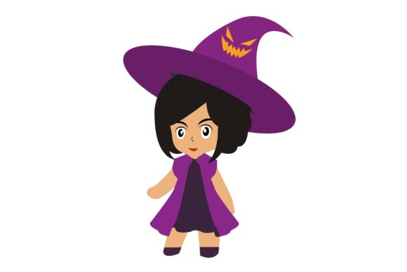 Halloween Chibi Character Vector 3 Graphic Illustrations By harunikaart