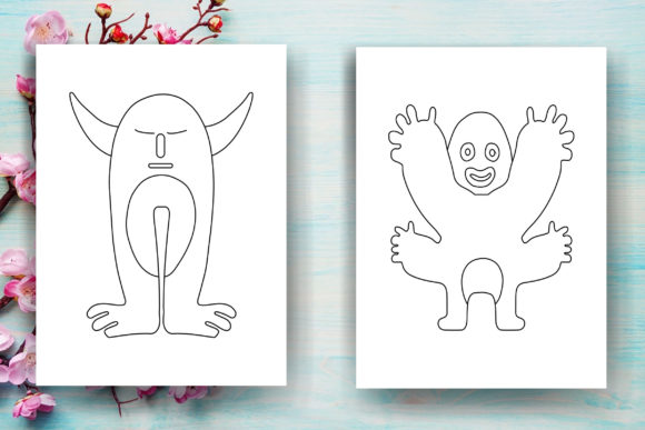 Halloween Monster Kids Coloring Page Graphic Coloring Pages & Books Kids By Sei Ripan - Image 2
