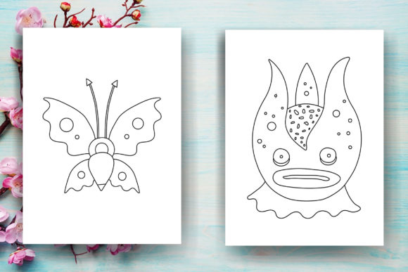 Halloween Monster Kids Coloring Page Graphic Coloring Pages & Books Kids By Sei Ripan - Image 3