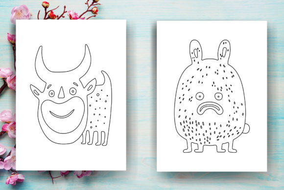Halloween Monster Kids Coloring Page Graphic Coloring Pages & Books Kids By Sei Ripan - Image 4