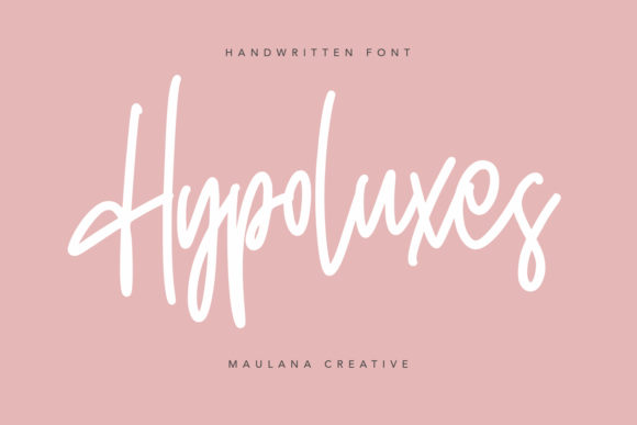 Print on Demand: Hypoluxes Script & Handwritten Font By Maulana Creative