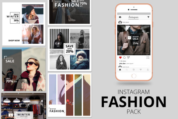 Print on Demand: Instagram Promotional Banner Pack Graphic Websites By sistecbd