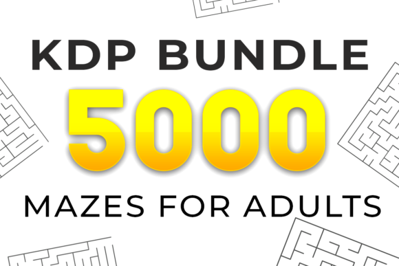 Print on Demand: 5000 Mazes for AdultsKDP Bundle Graphic KDP Interiors By KDP Product - Image 1