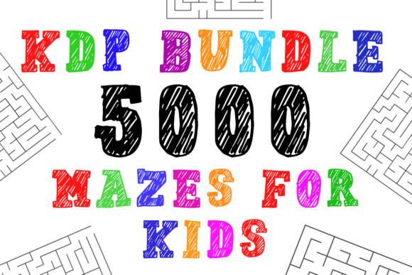 Print on Demand: KDP Bundle 5000 Mazes for Kids Grafik KPD Innenseiten von KDP Product