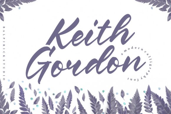 Print on Demand: Keith Gordon Script & Handwritten Font By Balpirick