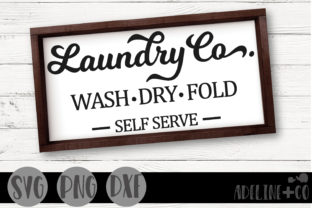 Laundry Co Sign Graphic Crafts By adelinenco